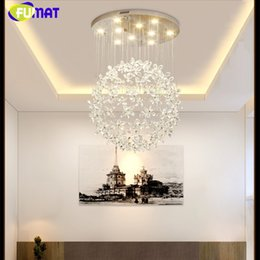 $enCountryForm.capitalKeyWord Australia - FUMAT Crystal Clear K9 Ceiling Lamps Flower Ball Stairway Modern Villa Chandelier Lighting Hanging Fixture Mall GU10 LED Lights