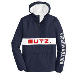 Discount block bat - Hooded Jackets Men New Lettering Color Block Pullover Jacket Fashion Tracksuit Casual Coat Men Hip Hop Streetwear For Bo