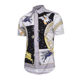 $enCountryForm.capitalKeyWord UK - New men's fashion summer hot style creative flying horse 3D printing shirt fashion street youth leisure T-shirt shirt hot sale