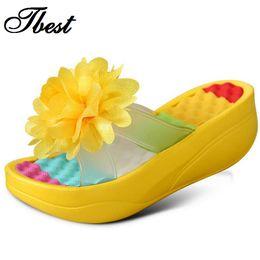 Woman sWing sandals online shopping - 2016 new summer Women s Flip Flop Sandals Platform flip flops slippers sandals swing wedges sandal women hole shoes plus size
