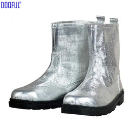 Fighting Australia - Composite Aluminium Foil Insulating Fire Fighting Safety Boots Heat Proof Shoes High Temperature Working Thermal Radiation Protection