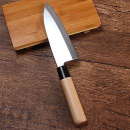 $enCountryForm.capitalKeyWord Australia - Stainless Steel Kitchen Knife Sashimi Sushi Cooking Knife With Wood Handle Sharp Chef Carving Knife