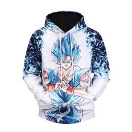 Chinese  Dragon Ball Z Naruto Hoodies 3D Print Pullover Sportswear Sweatshirt Super Saiyan Cosplay Son Goku Vegeta Vegetto Outfit Tops manufacturers