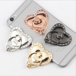 Universal Holder For Tablet Pc NZ - Universal Rotating 360 Liquid Finger Grip Bling Glitter Heart Phone Stand Holder for iphone 7 8 Samsung s7 s8 android phone pc tablet