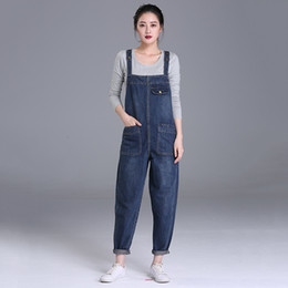 Jumpsuits Jeans xs online shopping - Women s Plus Size Denim Bib Overalls Boyfriend Cropped Denim Jeans High Waist Jumpsuits Playsuits Washed Romper Casual Pants