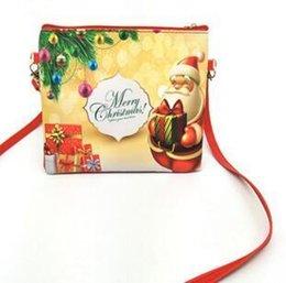 $enCountryForm.capitalKeyWord NZ - 1Christmas Gift Bag Cartoon Elk Snowman Child Diagonal Cross Shoulder Bag