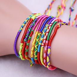 $enCountryForm.capitalKeyWord Australia - Multicolored Hairband Manual Weave Bracelet Polyester Fiber Hair Bands For Children Boy Girls Popular Good Luck 0 18my D1