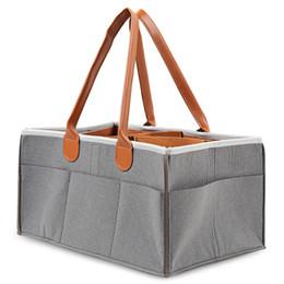 Taşınabilir Bez Tote Depolama Bin Bebek Bezi Organizatör Ayarlanabilir Bölmeler Keçe Bezi Çanta Taşınabilir Çok cep Bezi Çantası