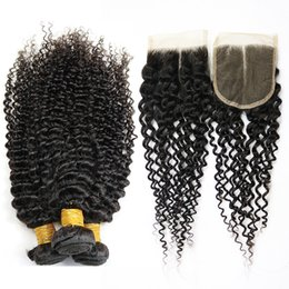 Wavy Curly Hair Wefts Australia - 4*4 lace real hair curtain water wave human hair wigs Brazilian Wave Virgin Hair Wefts Wet and Wavy Bundles Brazilian Curly Weave