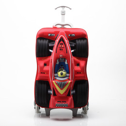 Cartoon travel suitCase online shopping - HOT quot cars D extrusion EVA trolley case boy kids cool can climb stairs luggage suitcase Travel child cartoon Boarding box