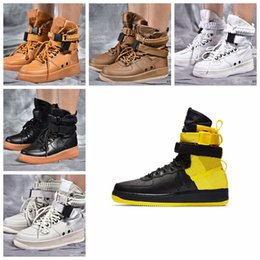 special straw NZ - 2019 Special Field SF AF1 Mid Running Shoes For Mens and Women 12 Color Sports Shoes SF AF1 Athletic Sport Trainers 36-45