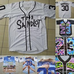 $enCountryForm.capitalKeyWord Australia - Mens Rodriguez #30 The Sandlot Movie Button Down Baseball Jersey 100% Stitched Mike Vitar Benny 'The Jet' Rodriguez Jerseys