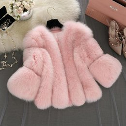 $enCountryForm.capitalKeyWord Australia - S-4XL plus size Winter New fashion brand Fake fox fur jacket women's warm jacket stitching thicker Faux fur coat w1768