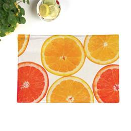 $enCountryForm.capitalKeyWord Australia - Summer fresh fruit pattern kitchen table mat linen linen decoration mat place pad thick non-slip placemat
