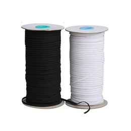 3mm 6mm 9mm 12mm DIY Ears String For Mask Elastic Strap White Earloop Handmade Headwear Sewing Handmaid Mouth Cover Rope Stretchy Band Braid on Sale