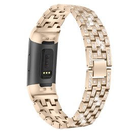 Smart Watches Straps Australia - Metal Bling Bands Compatible with Fitbit Charge 3 Smart Watch Replacement,Adjustable Strap Band Accessories Bracelet for Fit bit Charge 3