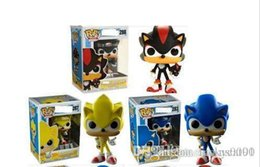 sonic toys for UK - FUNKO POP Sonic Boom Amy Rose Sticks Tails Werehog PVC Action Figures Knuckles Dr. Eggman Anime Pop Figurines Dolls Kids Toys for Childrens