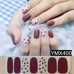 $enCountryForm.capitalKeyWord Australia - Lamemoria 1pc Sexy Leopard Designs Nail Art Sticker 3D Adhesive Stickers Decals Beauty Full Nail Wraps for Ladies Drop Shipping