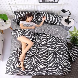 black white rose bedding NZ - 3 4pcs King Size Geometric Bedding Sets Leopard Queen twin Size Duvet Cover Sets Pillowcases Bed Linen Black&White Bed Clothes