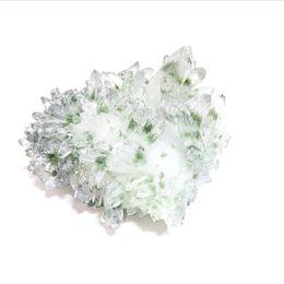 Cluster di cristallo fantasma verde di pietra naturale del quarzo di spirito di guarigione all'ingrosso per la decorazione domestica