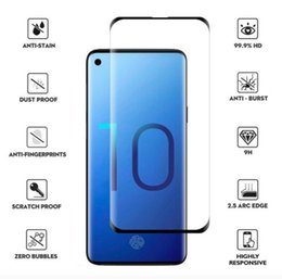 Samsung Screen Glass Guard Australia - 5D Curved LCD Tempered Glass Screen Protector Guards For Samsung Galaxy S10 Plus S10e Without Retail Package