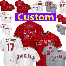 4749273f7c8 Huge savings for Angels Baseball Jerseys. 1/3. Custom Angels 27 Mike Trout  ...
