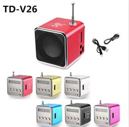 $enCountryForm.capitalKeyWord Australia - Bluetwo TD-V26 Mini Speaker Portable Digital LCD Sound Micro SD TF FM Radio Music Stereo Loudspeaker for Laptop Mobile Phone MP3