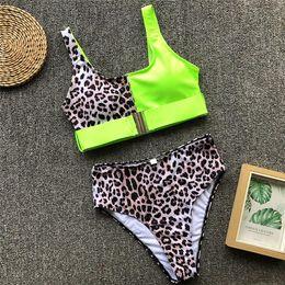 $enCountryForm.capitalKeyWord Australia - Green Sexy Leopard One Piece Swimsuit Bikini 2019 High Cut Swimwear Women Monokini Padded Swimming Suit New Bodysuit Trends Fashion