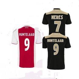 d84da6196 2018 2019 ajax soccer jersey home ZIYECH home football shirt DOLBERG  HUNTELAAR Camiseta 18 19 Ajax Amsterdam maillot VAD DE BEEK SCHONE