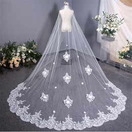 $enCountryForm.capitalKeyWord UK - Summer Classic Lace Long Edge Wedding Veils Romantic Designer Women Head Veil Travelling Picture Charm Bride Hair Veils