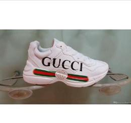 2019 Nuevo Lujoso G calzado deportivo Zapatillas de deporte Blanco Negro Hombre Mujer Bajo con cordones Casual Zapatillas Marca Entrenadores 36-44