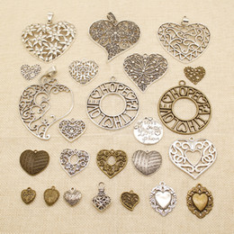 faith hope love wholesale jewelry UK - 20 Pieces Mix Jewelry Findings Components The Empty Flower Heart Love Hope Faith HJ199