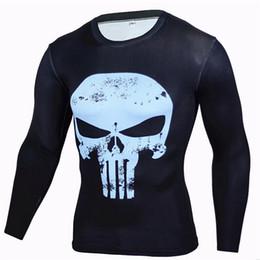 Gym Polyester T Shirt Long Sleeves NZ - 2019 gym Hot Sale Punishing party Punisher Rashgard Running Shirt Men T-shirt Long Sleeve Compression Shirts Gym T Shirt Fitness Sport Shirt