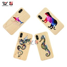 shark phone NZ - Printing Shark Bear Sea Horse Dragon Designs Maple Wooden Custom Mobile Phone Case For iPhone 6 7 8 Plus X XS XR Max