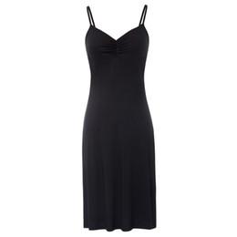 $enCountryForm.capitalKeyWord Australia - Full Womens Silk Slips With Bra Sexy V-neck Fitness Silk Petticoat 100% Silk Slips Dress Female designer clothes