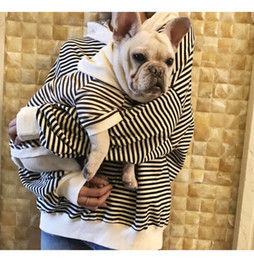 447967a9 pet stripe warm clothes cartoon small Dog and Mom Matching clothes with  ears Winter Dog Coats Soft outwear clothes hoodies MMA1193