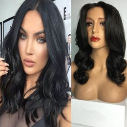 $enCountryForm.capitalKeyWord Australia - 100% Body Wave Human Hair Lace Front Wigs Brazilian Hair Malaysian Medium Size Swiss Lace Cap Bleached Knots lace front wig