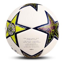 $enCountryForm.capitalKeyWord Australia - Real Madrid Football Size 5 Machine Sewing White Geometric Pattern Game Training Club Soccer Ball For Student jooyoo