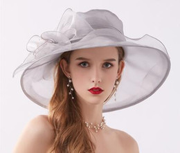 Flower Spring Top Australia - 2019 spring and summer ladies hat retro flower mesh light thin sunshade hat organza sun protection sun hat