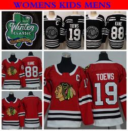 8463bf8f6 2019 Winter Classic Womens Chicago Blackhawks Hockey Jerseys Ladies 88  Patrick Kane 19 Jonathan Toews Stitched Jersey Mens Womens Kids Shirt
