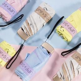 Nylon Coating Australia - Mini Pocket Umbrella Color Coating Rain Paraguas Plegable Black Coating Sun Protection Anti-UV Parapluie Folding Umbrella