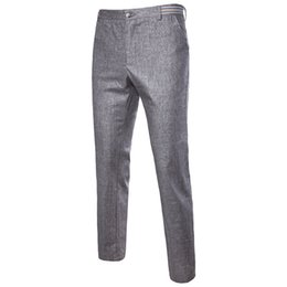 cotton casual lightweight trousers men UK - New Men's Casual Pants Summer Thin Cotton and Hemp Man Trousers Loose Hemp and Large Linen Pants for Men