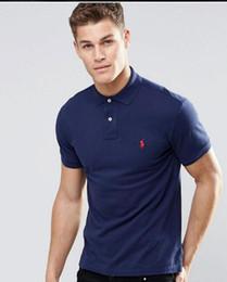 $enCountryForm.capitalKeyWord Australia - High quality 100% cotton T-shirt polo men ralph men's shirt business men's designer polo shirt embroidered lapel polo shirt Free shipping