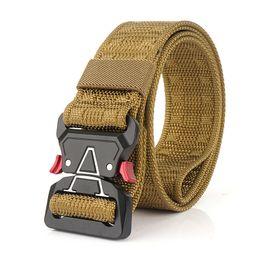Travel Belts Australia - Men's Tactical Belts Heavy Duty Work Belt Quick-Release Webbing Nylon Belts with Metal Buckle for Outdoor Sports Travel Hiking