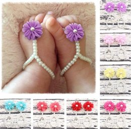 $enCountryForm.capitalKeyWord UK - White Pearls Baby Jewelry Infant Toddler Barefoot Sandals Stunning For Christening S And Flower Girls Baby Accessories Baby Shoes Ins
