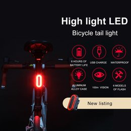 $enCountryForm.capitalKeyWord NZ - USB Rechargeable Bicycle Rear Light Cycling LED Taillight Back Lamp for Bicycle sign folding bike accessories led bike light #24420