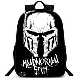 $enCountryForm.capitalKeyWord UK - Mandalorian skull backpack Scum day pack Bone game school bag Casual packsack Picture rucksack Sport schoolbag Outdoor daypack