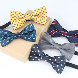 Handmade Suit Baby Australia - Children's formalwear bow tie baby accessories suit small bow tie bow version of the tide casual wild spot