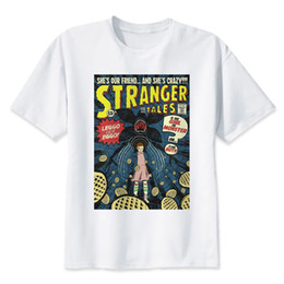 stranger shirt Australia - stranger things t shirt 2017 anime t-shirt men O-neck mens tee shirts high qualty men shirt summer tshirt
