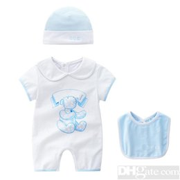 Wholesale round neck romper resale online – 2019 Round Neck Cotton Uniform Clothing New Newborn Baby Romper Boy Girl Clothes Long Sleeve Infant Product Spring Autumn